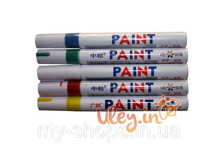 Набор маркеров 5 цветов. Для метки маток (белый, красный, синий, зеленый, желтый)