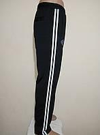 Мужские спортивные штаны с лампасами утепленные дайвинг с начесом размер норма.