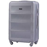 Большой дорожный чемодан wings 203 silver размер L, фото 1