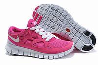 Кроссовки женские беговые Nike Free Run Plus 2 (найк фри ран) розовые