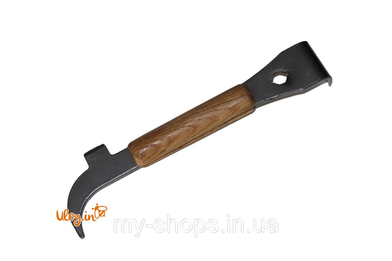 Стамеска пасечная, (ЕВРОПЕЙКА) для подъема рамок с деревянной ручкой