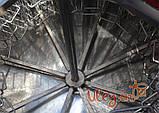 Медогонка 16-ти рамочная «ЕВРО» Медогонка, с поворотом кассет, нержавеющая (ротор Н/Ж, с крышкой), фото 2