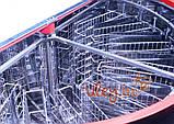 Медогонка 16-ти рамочная «ЕВРО» Медогонка, с поворотом кассет, нержавеющая (ротор Н/Ж, с крышкой), фото 6