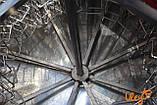 Медогонка 16-ти рамочная «ЕВРО» Медогонка, с поворотом кассет, нержавеющая (ротор Н/Ж, с крышкой), фото 7