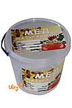 Этикетка «Мед натуральный», прямоугольная 7х10 см (самоклейка) — 100шт., фото 2