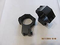 Кольца для крепления оптики 30мм, на ласту, высокие