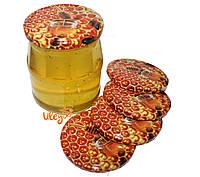 Крышка для меда на стеклянную банку СОТА №5, Твист-офф 82мм