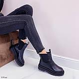 Тільки 36 р! Жіночі черевики ДЕМІ чорні з гумкою еко шкіра, фото 7