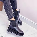 Тільки 36 р! Жіночі черевики ДЕМІ чорні з гумкою еко шкіра, фото 8