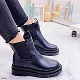 Тільки 36 р! Жіночі черевики ДЕМІ чорні з гумкою еко шкіра, фото 2