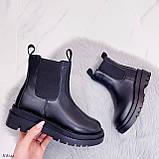 Тільки 36 р! Жіночі черевики ДЕМІ чорні з гумкою еко шкіра, фото 6