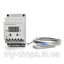 Регулятор-измеритель влажности цифровой на DIN-рейку РВ-16Д-DHT11 (220В, 16А)