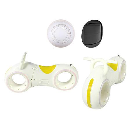 Беговел GS-0020 White/Yellow Bluetooth LED-підсвічування, фото 2