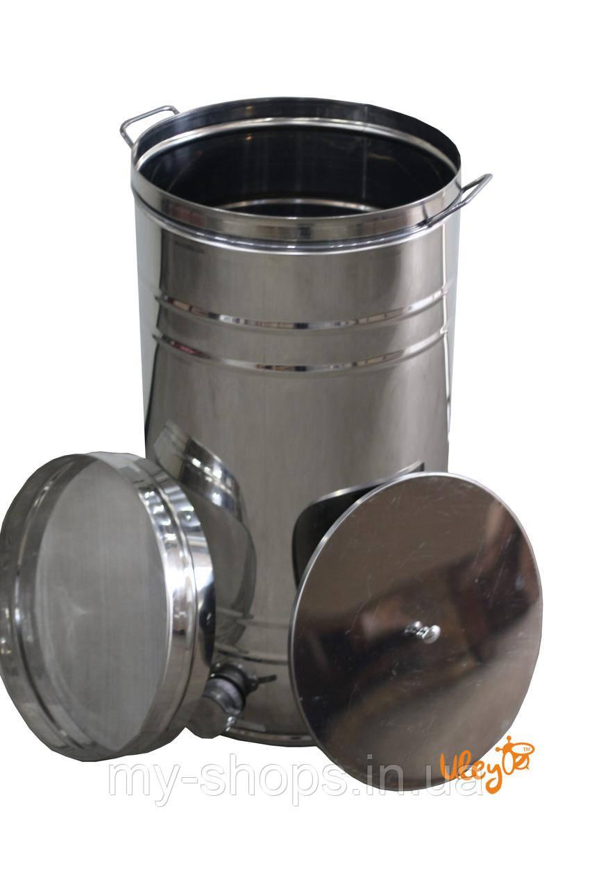 Бак відстійник для меду з нержавіючим фільтром 35 л