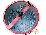 Алюмоцинковая медогонка 3-х рамочная поворотная, кассета сварная (окрашена порошковой краской), фото 3