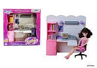 Мебель 2125 (12шт) со светом,для офиса,письм.стол,стул,шкаф д/бумаг,комп,аксесс, в кор.32*31*10см