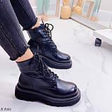Женские ботинки ДЕМИ/ осенние черные на шнуровке эко кожа, фото 9