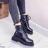 Женские ботинки ДЕМИ/ осенние черные на шнуровке эко кожа, фото 7
