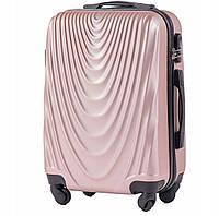 Пластиковый чемодан wings 304 rose gold размер L (большой), фото 1