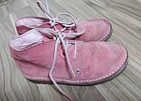 Черевики, черевички, взуття для дівчинки. стелька 21см. нат замша.