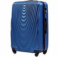 Пластиковый чемодан wings 304 midle blue размер L (большой), фото 1