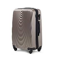 Пластиковый чемодан wings 304 шампань размер L (большой)