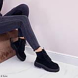 Женские ботинки ДЕМИ весна-осень черные эко-замш, фото 4