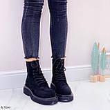 Женские ботинки ДЕМИ весна-осень черные эко-замш, фото 7