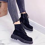 Женские ботинки ДЕМИ весна-осень черные эко-замш, фото 9