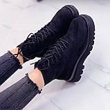 Женские ботинки ДЕМИ весна-осень черные эко-замш, фото 3