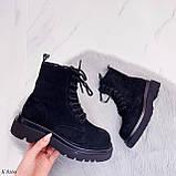 Женские ботинки ДЕМИ весна-осень черные эко-замш, фото 5