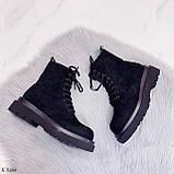 Женские ботинки ДЕМИ весна-осень черные эко-замш, фото 6