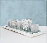 Набор подсвечников 5 шт на подставке стекло h8см, фото 5
