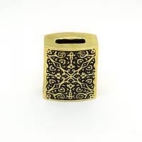 Прямоугольная оковка с орнам. бронза 29х16х35, фото 1