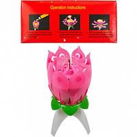 Свечка для торта музыкальная «Цветок» 1 - Минимальный заказ 1 упаковка (10 штук)