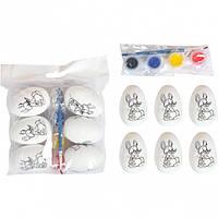 Набор «Раскрась сам» заготовка - Яйца с - Минимальный заказ 1 упаковка (4 штук)