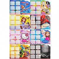 Расписание уроков картон на веревочке - Минимальный заказ 1 упаковка (5 штук)