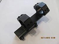 Моноблок для крепления оптики 30 мм на ласту, с выносом
