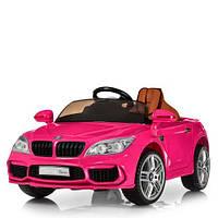 Детская машина M 2773EBLRS-8, пульт 2,4G, колеса EVA, эко-кожа, розовая, фото 1