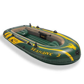 Трехместная надувная лодка Intex 68380, 295х137 см