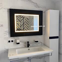 Дзеркало у ванну чорне Donato P2