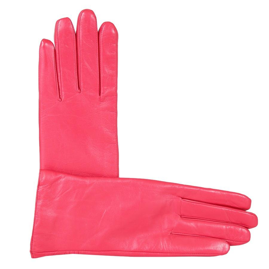 Перчатки кожаные женские de esse Красные