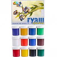 Гуашь художественная 12 цветов, 40 мл « - Минимальный заказ 1 упаковка (1 штук)