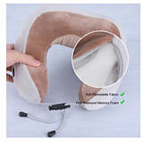 Массажная подушка с вибрацией и функцией памяти U-Shaped Massage Pillow Shake, фото 3