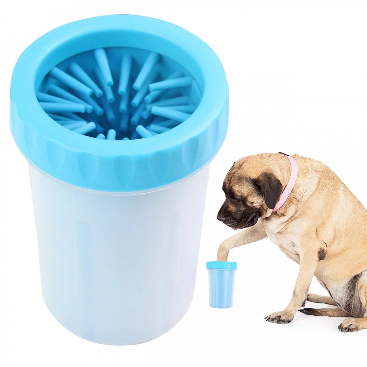Лапомойка для собак и кошек Soft Gentle Голубая
