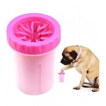 Лапомойка для собак и кошек Soft Gentle Розовая