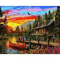 Картина рисование по номерам Babylon Вечерний закат 40х50см VP1157 набор для росписи, краски, кисти, холст