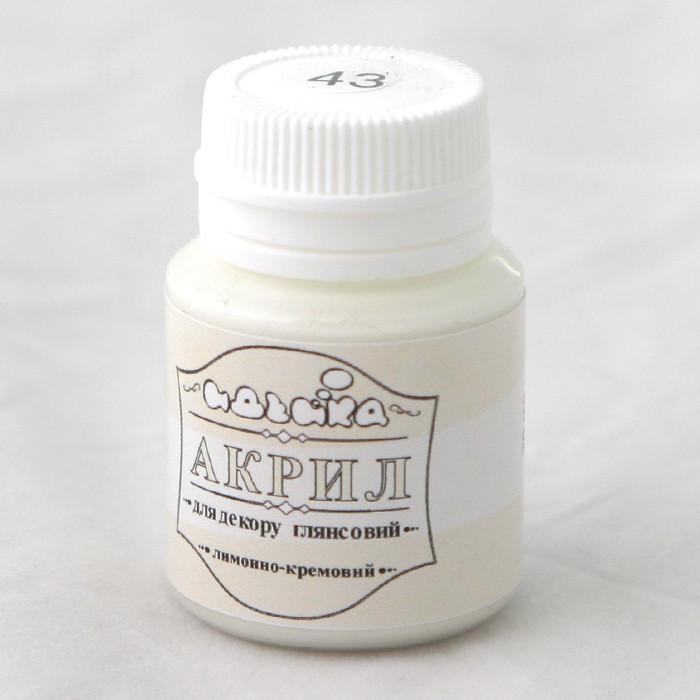 Акриловая краска для рисования и декора Идейка 98243 20мл Лимонно кремовый