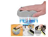 Органайзер для мочалок с мыльницей и дозатором нажимная Soap Pump Серый, фото 3