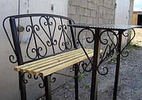 Стол и лавочка на кладбище